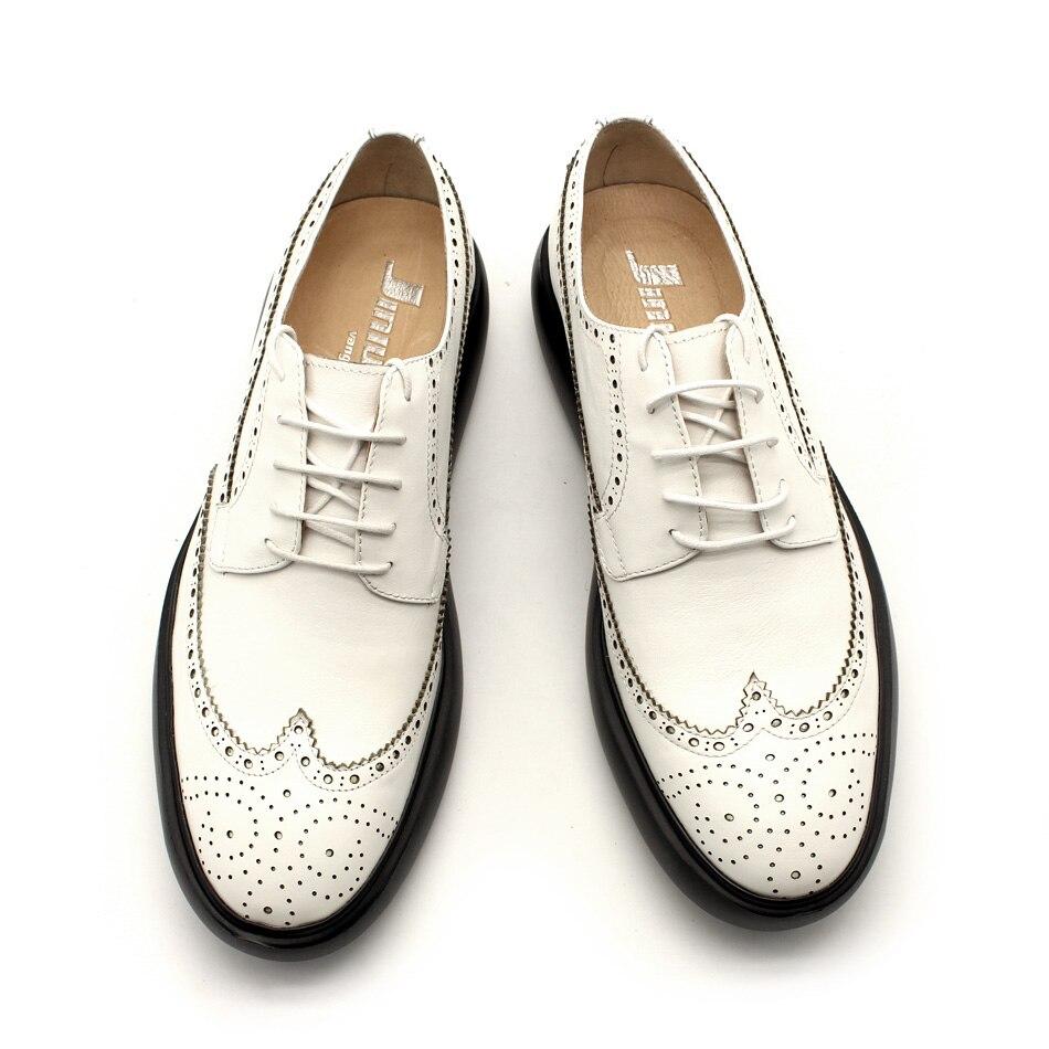 Shown branco 45 Crescente Europeu Couro as Sapatos Estilo Preto Shown Do As Salto Homens Dos Superior Grosso Altura De Brogue Qualidade Real Confortáveis wUBxqTxI