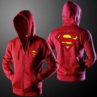 Zemtoo Fashion Brand Superman Hoodie Sweatshirts Brand Clothing Street Style 3D Hoodie Jackets Men Women Casual