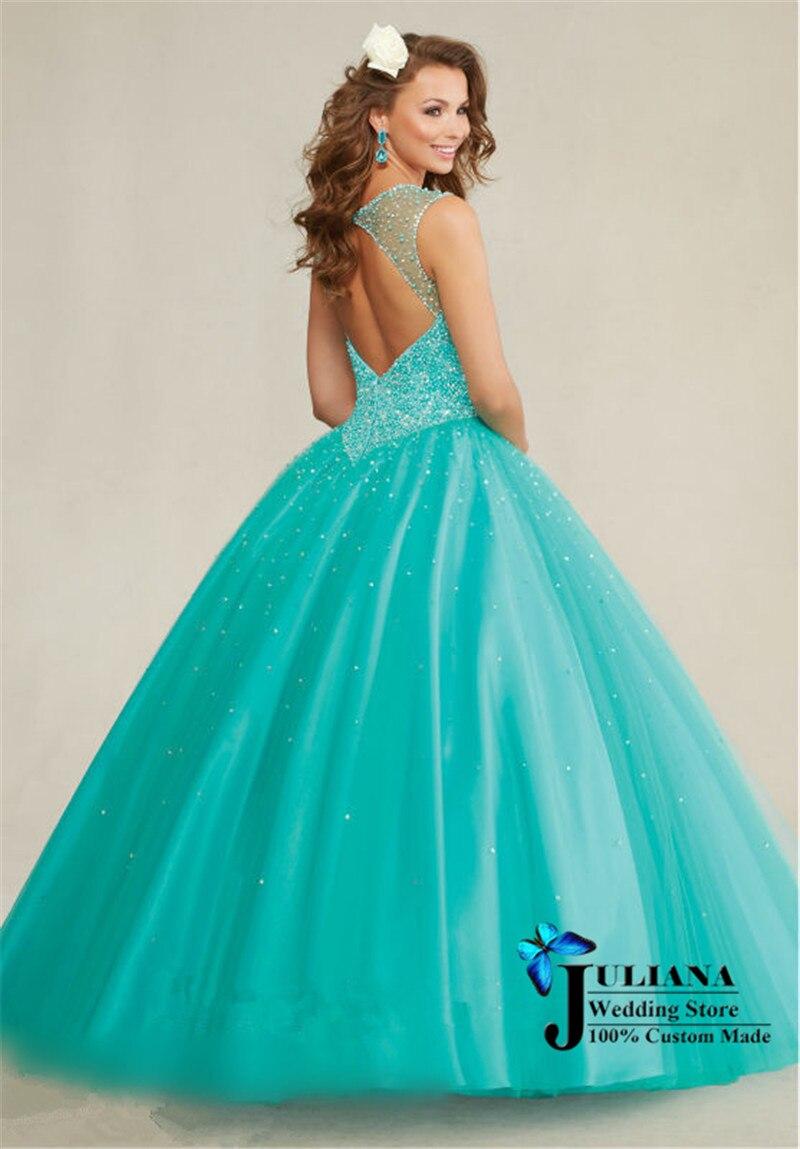 Hot Pink and Aqua Ball Gown Dresses | Dress images