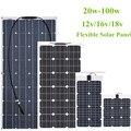 30 Вт/40 Вт/60 Вт/80 Вт/100 Вт 12 В/16 В/18 в ячейка солнечной энергии гибкий модуль солнечной панели батареи зарядное устройство панели для автомобиля...