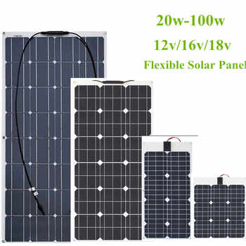30W/40w/60W/80W/100W 12V/16V/18V Solar Energy cell Flexible Solar Panel Module Battery Charger Panels for Car/Truck/Motorcycle - DISCOUNT ITEM  12% OFF All Category