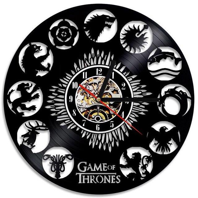 """Game of Thrones"" Vinyl Wall Clock  1"