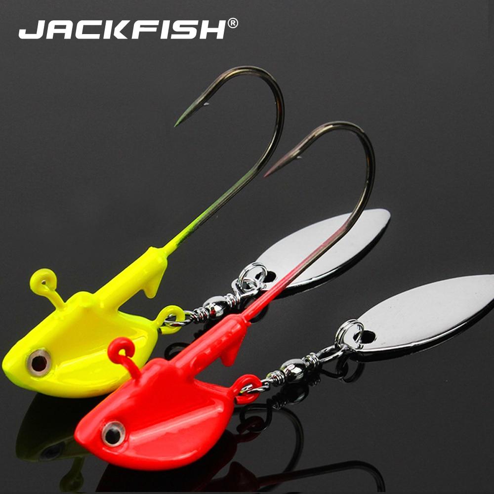 JACKFISH, 1 шт., металлические крючки для головы, 6 г, 10 г, 14 г, крючок с свинцовой головкой, крючок для приманки, джиг, искусственные блестки, многоцветные рыболовные снасти, крючки