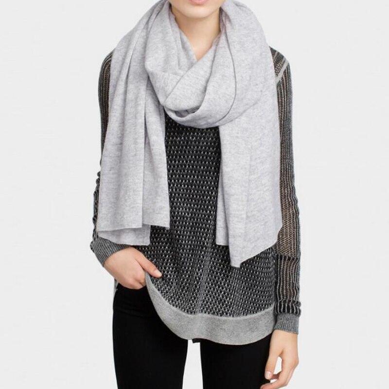 Cashmere Scarf Soft Warm Shawls Natural Fabric Plain Gray Camel Fashion Scarf Winter High Quality  Free Shipping
