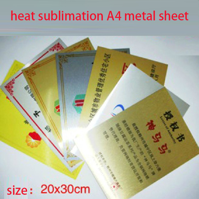 Free shipping a4 size aluminium sheet for heat sublimation free shipping a4 size aluminium sheet for heat sublimation printing popular gold heat transfer metal sheets reheart Image collections