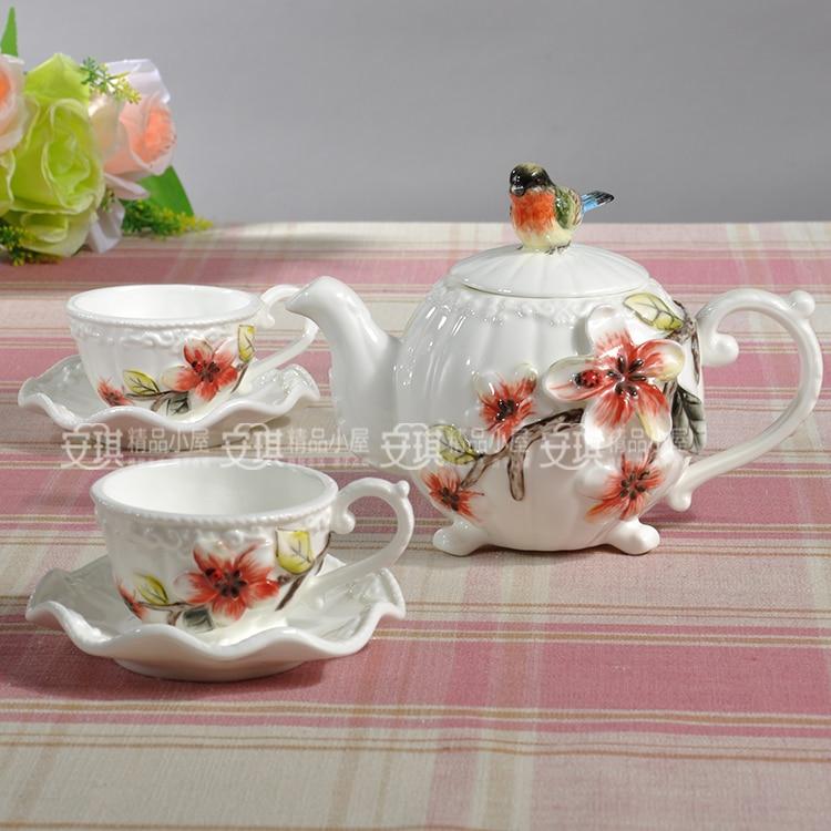 Ceramic Creative Bird Coffee Tea Sets Coffee Pot And Cup