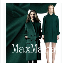 The Swiss cashmere fabric orders cashmere fabrics, cashmere coat fabrics of wool cloth double-sided green