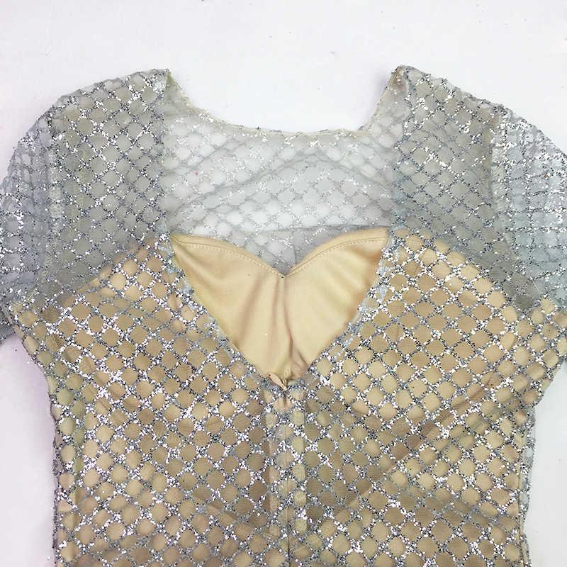 Серебристые вечерние платья в клетку с блестками и открытой спиной, открытые платья русалки, длинное платье, длина до пола, с длинными рукавами