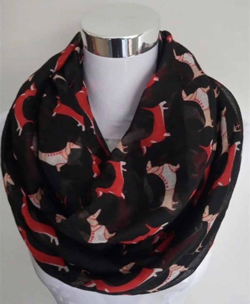 Dogs Print Infinity Scarf | Lightweight Scarves | Upto 60% Off Now