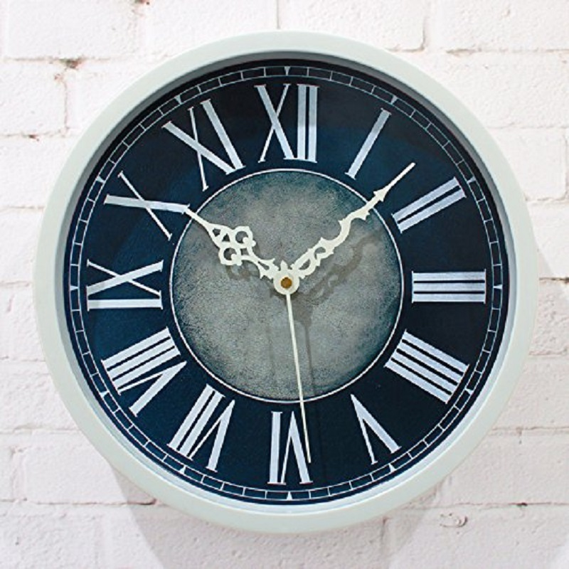 Wall clock saat clock reloj duvar saati horloge murale klok home decor wall w - Plaque decorative murale ...