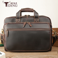 Men's Briefcase Genuine Leather 17