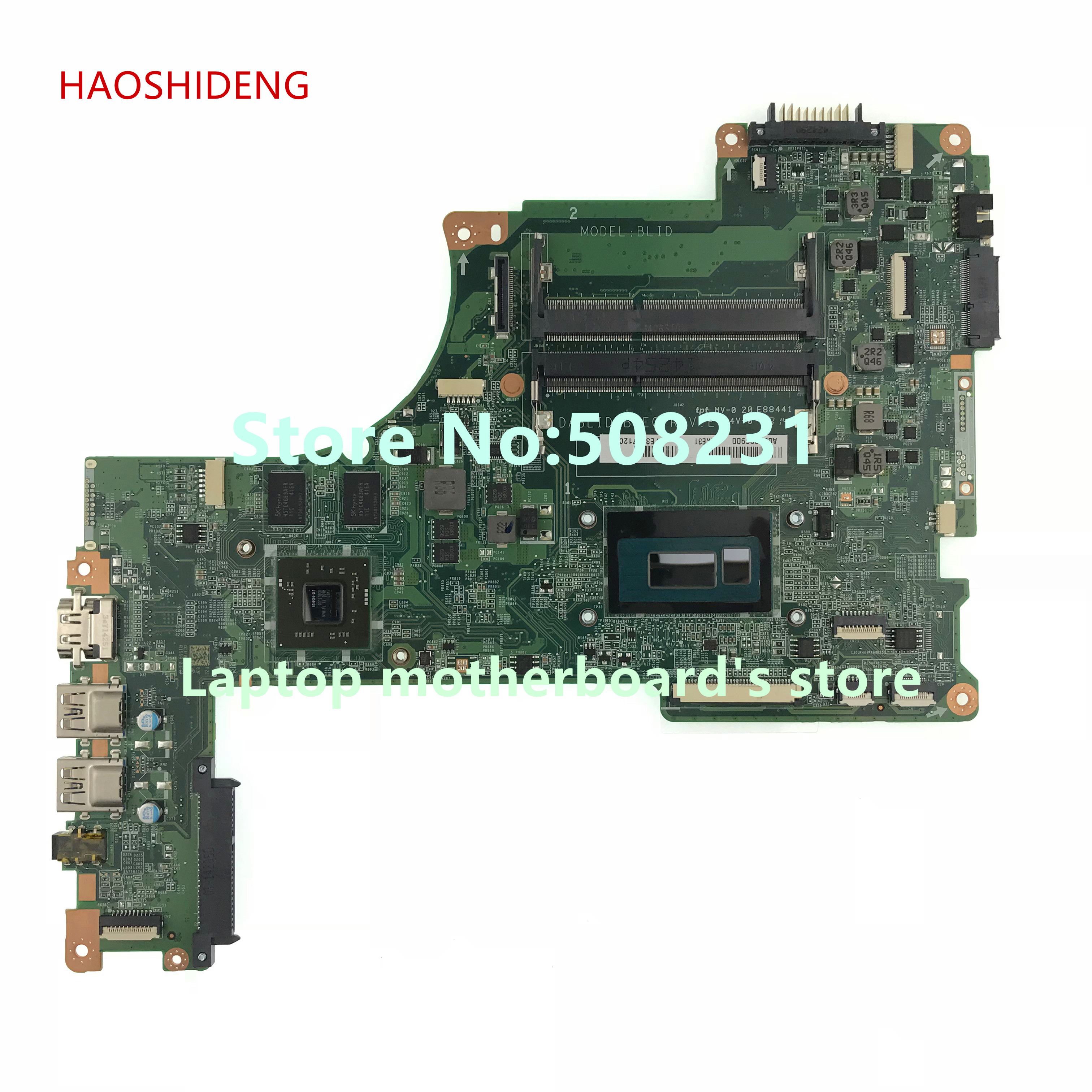 HAOSHIDENG For TOSHIBA Satellite S50 S55 S50T-B S55-B motherboard A000296900 DABLIDMB8E0 with I5-4210U CPU fully Tested h000055980 for toshiba satellite s50 s55 s55 a s55t series motherboard hm87 all functions 100% fully tested