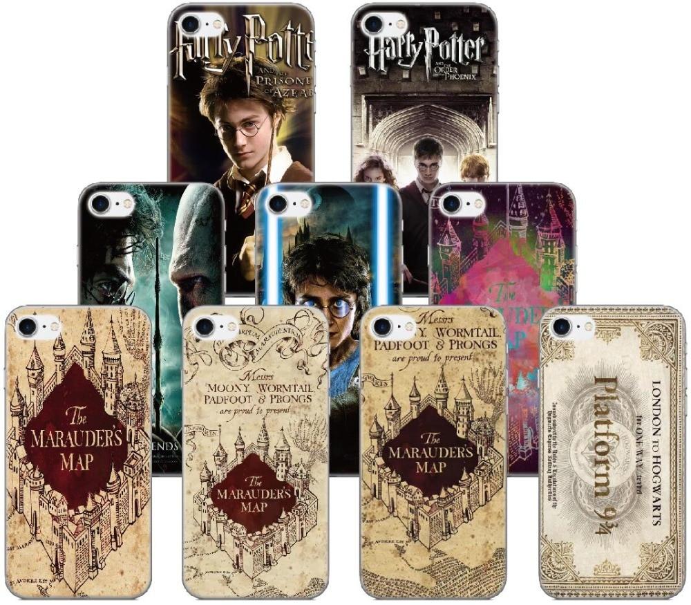 Harry Potter Marauders Map Case For Samsung Galaxy S9 Plus E5 E7 i9082 S5 S6 S7 Edge Note 3 4 5 Phone Cover Coque Capa Fundas
