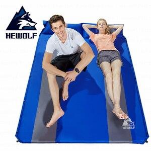 Image 2 - Hewolf otomatik şişme kamp Mat çift kişilik genişleyen suya dayanıklı ekleme serme yatak çadır Mat açık kamp seyahat