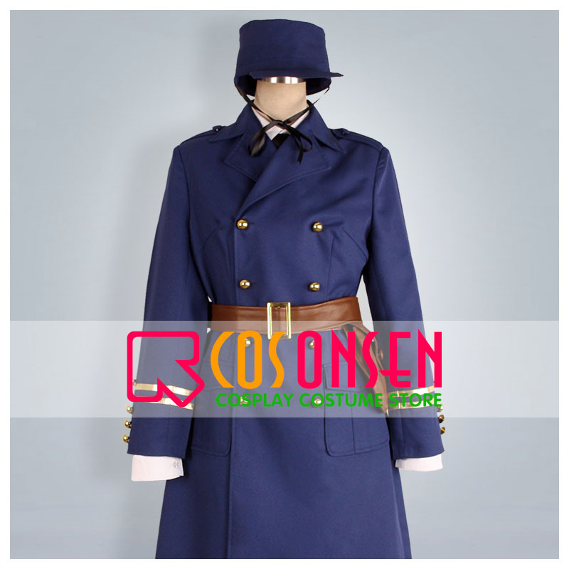 COSPLAYONSEN APH Axis Powers Hetalia Sweden Cosplay Costume Dark Blue Color All Size