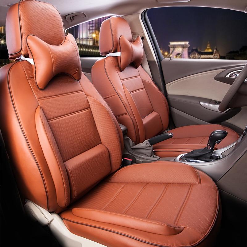 Leather Car Seats >> Pu Leather Car Seat Cover Set For Hyundai New Santafe Seat Covers