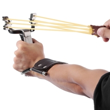 Rubber Band Slingshot Wrist Catapult Hunting Fishing Tools