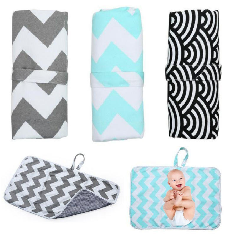 Baby Changing Pads Portable Travel Nappy Diaper Changing Mat Foldable Waterproof Baby Play Changing Mat Washable Baby Care