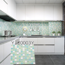 Kitchen bathroom Epoxy Solid Square Wall Sticker Self-adhesive Wallpaper Home Decor Waterproof Oilproof