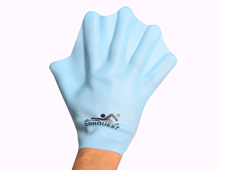 Silicone paddle palm webbed gloves swim, adult swim essential to improve the swimming speed diving gloves