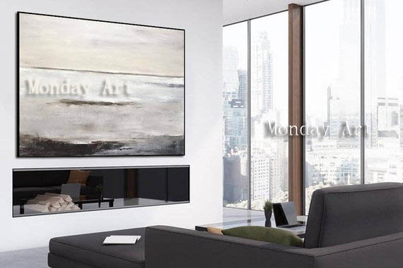 JJ Hand-painted-Abstract-Painting-Large-Original-Oil-Painting-Modern-Art-Taupe-White-Brown-Contemporary-Design-Canvas (3)