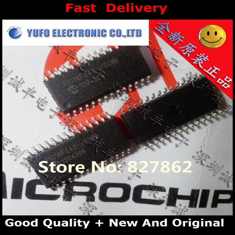 Free Shipping 2PCS PIC18F242-I / SO PIC18F242 SOP28 100% brand new original authentic (YF1201)