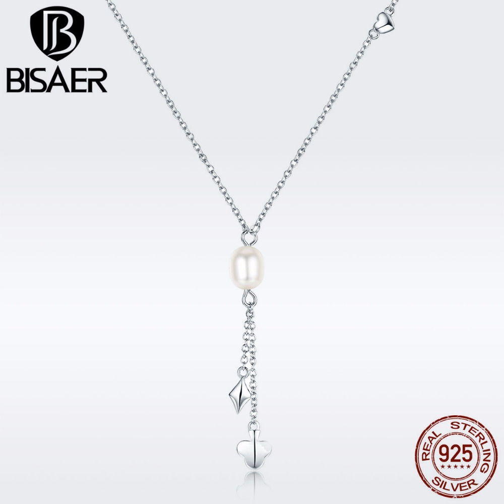 High Quality Bijoux 925 Sterling Silver Poker Tassel Freshwater Pearl Pendant Necklaces for Women Fine Jewelry Gift GXN077