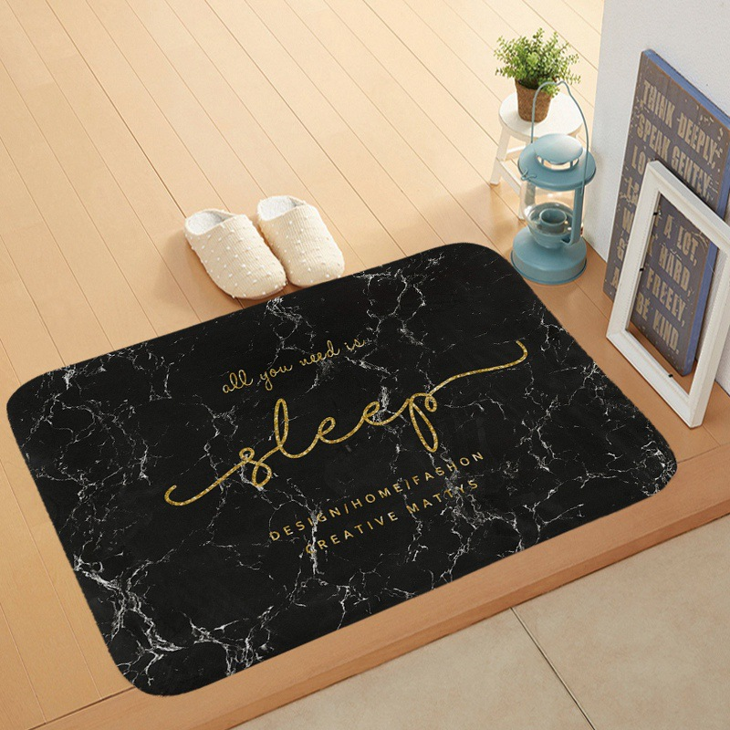 Marble Geometric Floor Mat Anti slip Water Absorption Carpet Kitchen Mat Door Mat Kitchen Carpet Toilet Tapete Rug Porch Doormat in Mat from Home Garden