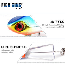 FISHKING Winter Ice Fishing Lure 1PCS 3D Eyes Colorful AD-Sharp Winter Bait Hard Lure Balancer for Fishing Bai