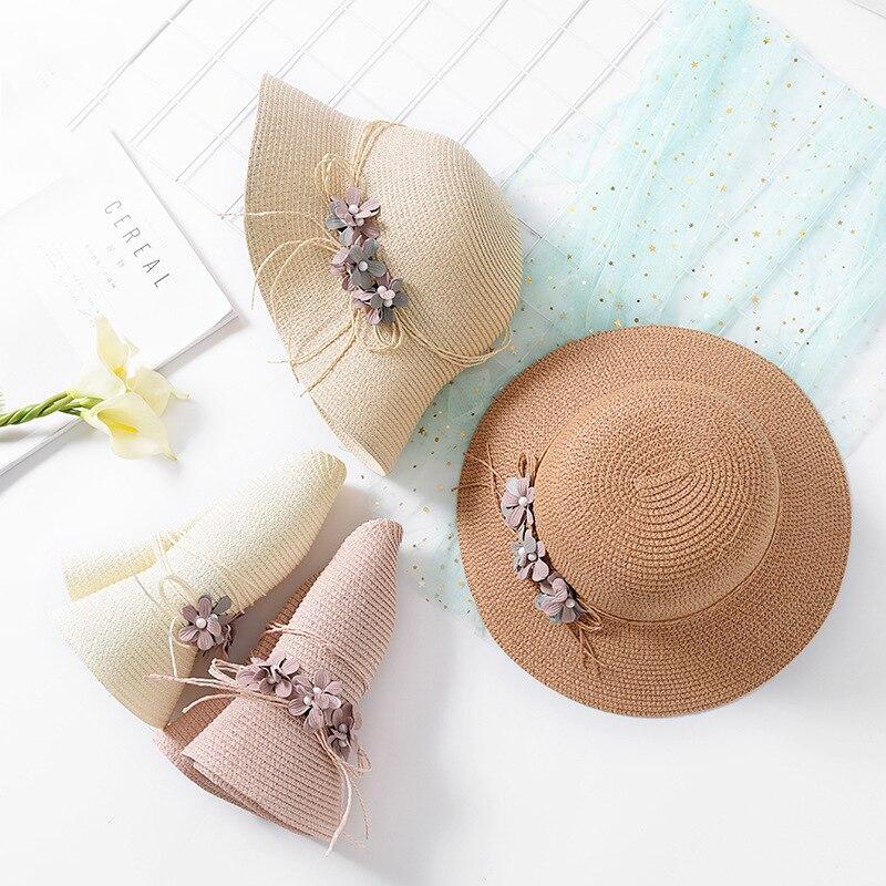 USPOP 2018 New Fashion wanita musim panas bunga topi matahari topi - Aksesori pakaian - Foto 4