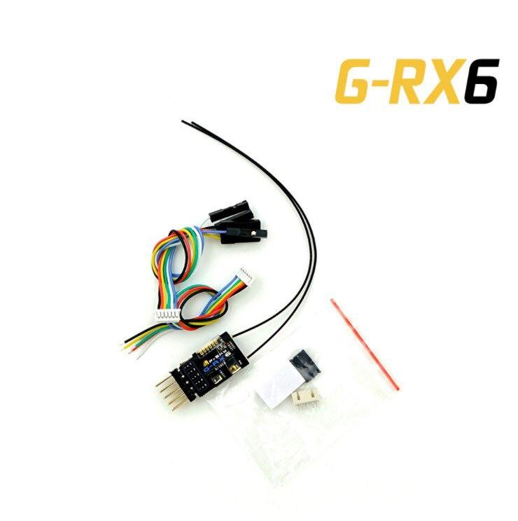 1 PC nouveau récepteur Frsky G-RX6 Mini récepteurs longue Distance avec antenne pour RC FPV course quadrirotor avion bricolage pièces de rechange