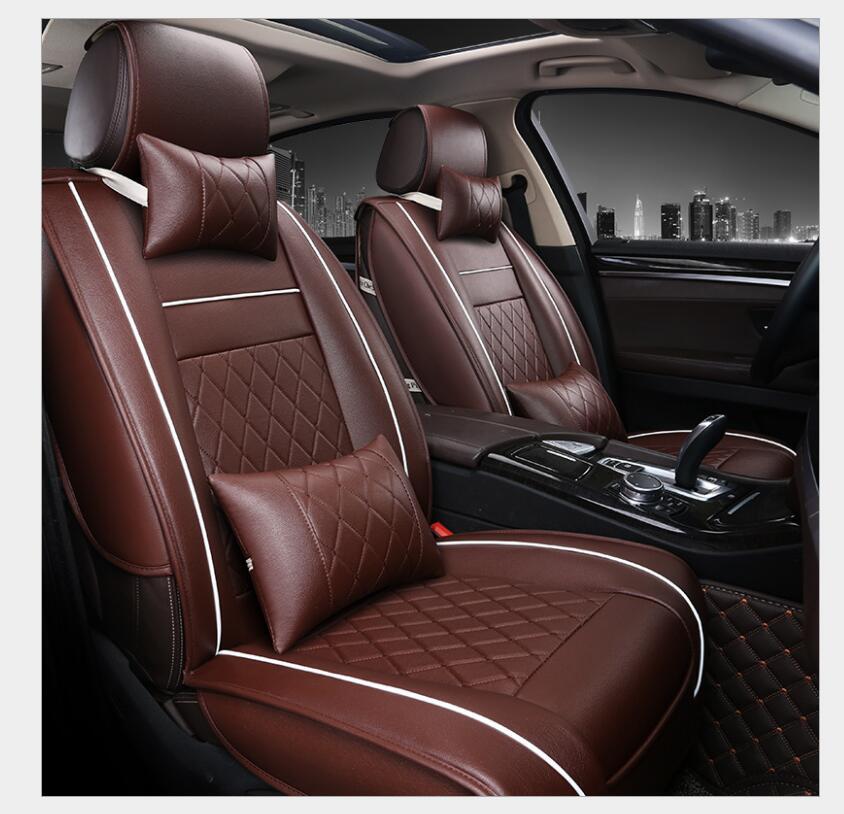 PU Leather Auto Universal Car Seat Covers Automotive car seat cover for car lifan x60 for car lada vesta granta ...