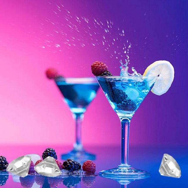 4 Cavity Diamond Shape 3D Ice Cube Mold Silicone Ice Cube Tray Maker Bar Party Drinking Wine Trays Chocolate Mold Kitchen Tool