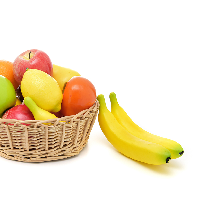 Simulation Fruits Banana Pear Mango Orange Peach Kitchen Toys For Children Pretend Play Toys Fruit Store And Home Decoration(China)