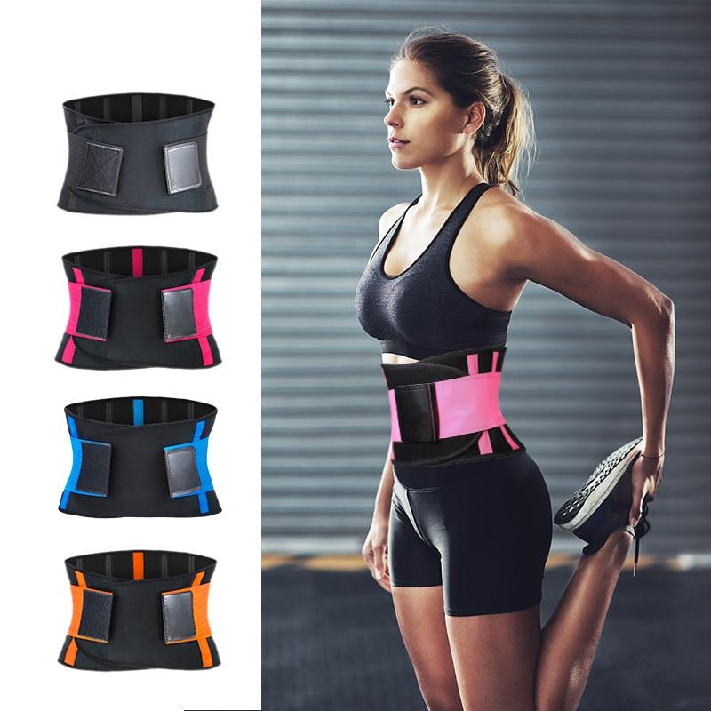 Adjustable Waist Back Support Waist Trainer Trimmer Belt Sweat Utility Belt for Sport Gym Fitness Weightlifting Tummy Slim Belts Waist Support    - AliExpress