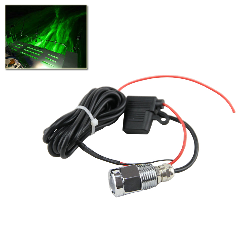Led Underwater Boat Lamp Green 9W Led Drain Plug Light With Waterproof Connector Car Styling For