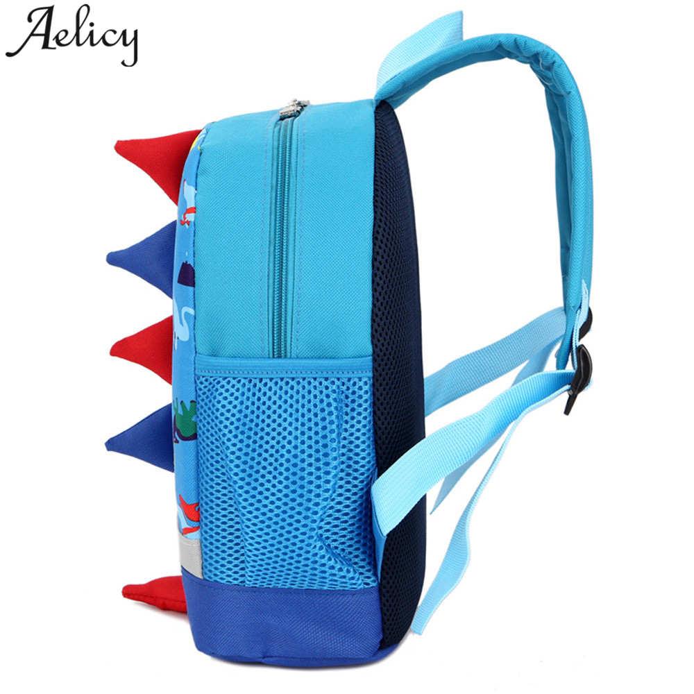 Aelicy Children Backpacks for School Dinosaur Pattern Kindergarten Nylon Children School Bags Printing Baby Girl Backpack