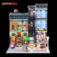 Led Light Building Blocks For 10246 Creator City Street Detective S Office Model Lepin 15011 Compatible