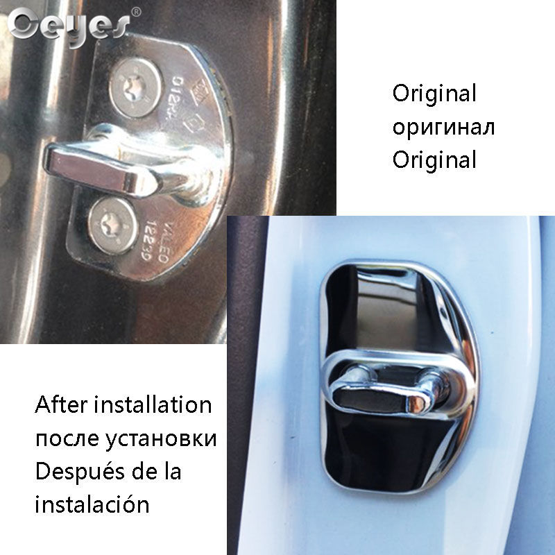 Ceyes Car Accessories Auto Protect Door Lock Cover For Renault Scenic Captur Megane 2 3 4 Duster Fluence Clio Kadjar Car Styling