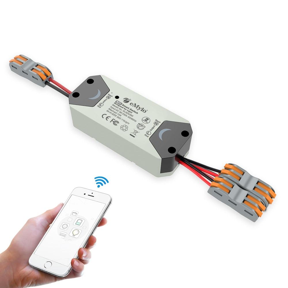 Emylo Tuya Smart Switch Wifi Light Switch Ac 220v 2ch 433mhz Smart Life App Wireless Remote Control Switch Timer For Google Home
