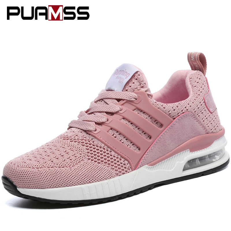 Women Sneakers Outdoor breathable mesh Female Athletics Sport Shoes women running shoes zapatos de mujer puls Size