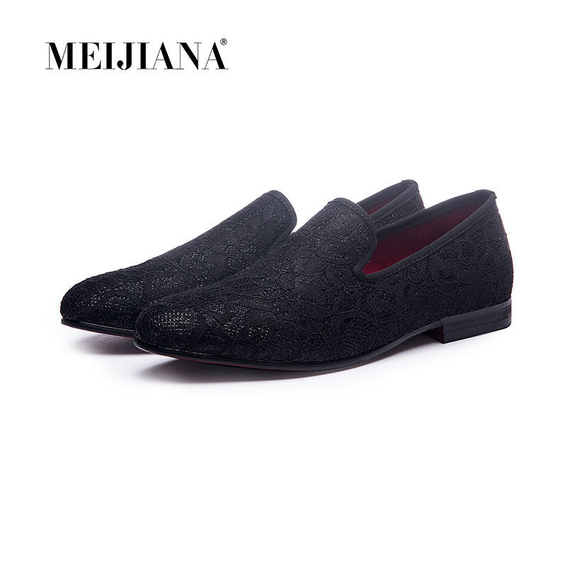 2019 Lace stitching cotton fabric Handmade men dress shoes simple and gentleman style men s loafers