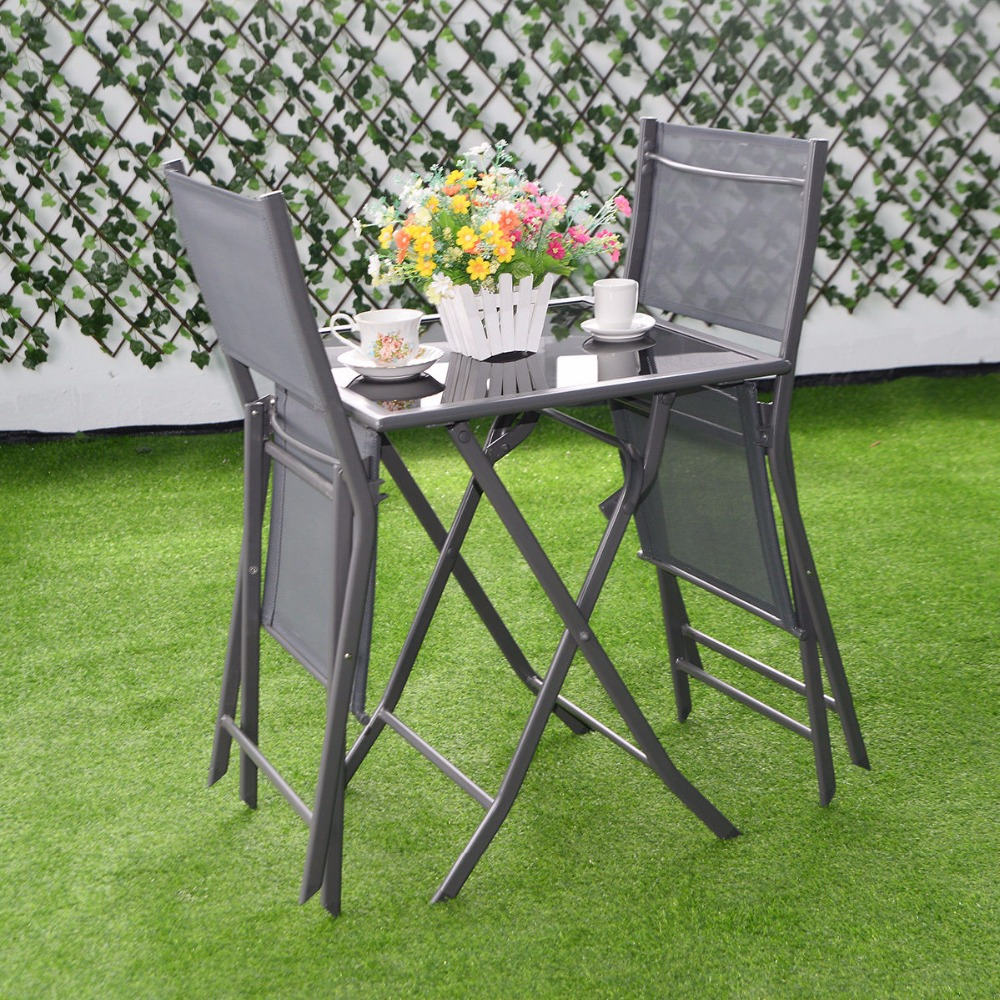 Charmant 3 Pcs Bistro Set Garden Backyard Table Chairs Outdoor Patio Furniture  Folding HW51582 In Garden Sets From Furniture On Aliexpress.com | Alibaba  Group