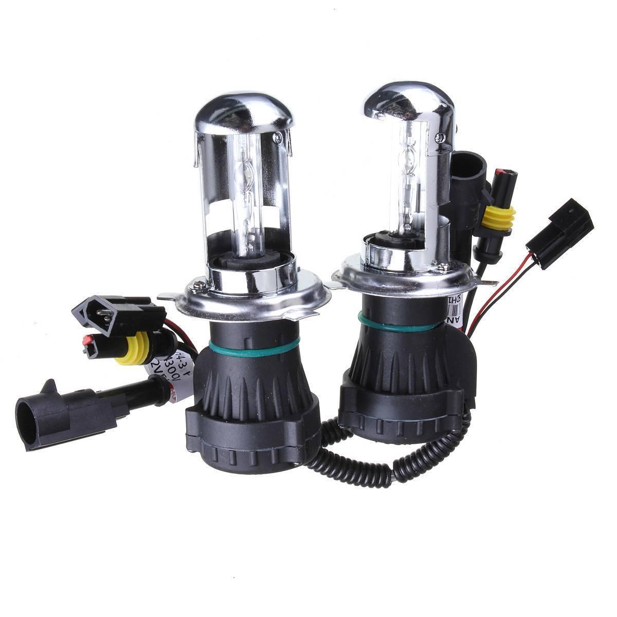 2X Bulb AUTO HID BI-Xenon Beam HI / LOW Bulb H4 (35W, 10000K) hot sale high quality auto xenon hid conversion kit 12v 35w h4 hi low dual beam 10000k freeshipping