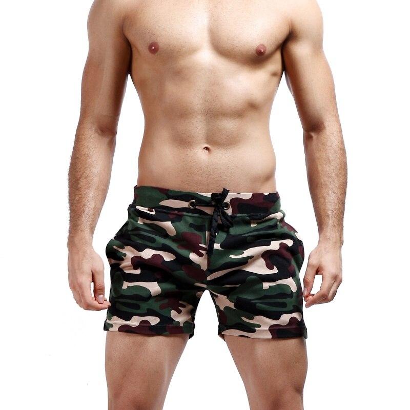 Men Jogger Sweatpants Casual Boxers Trunks Men's Trunks Comfort Homewear Camouflage Shorts Y26