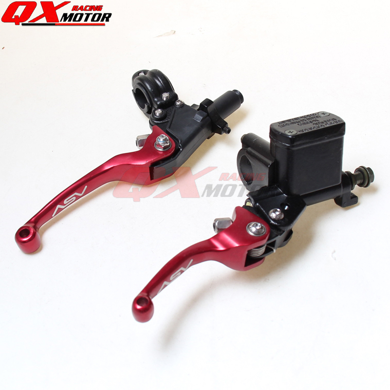 NEW CNC ASV folding brake lever clutch Lever with front pump For Most Motorcycle Dirt Pit Bike Motorcross CRF KLX YZF RMZ asv clutch and brake folding aluminum lever for dirt bike pit bike spare parts