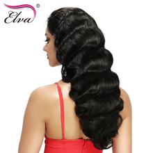 Elva Hair Pre Plucked Silk Top Lace Front Human Hair Wigs For Black Women Body Wave Brazilian Remy Hair Wigs With Baby Hair