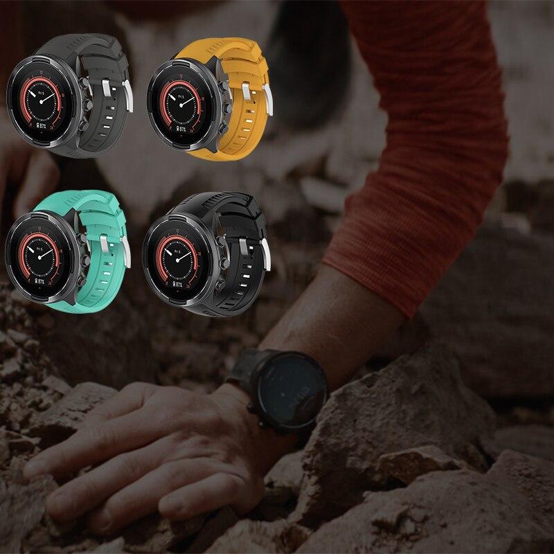 Силиконовый ремешок для suunto 9 резиновый спортивный часов