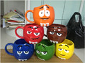 Creative Cute Cartoon MM Chocolate Beans Ceramic Mug Expression Cup Tea Coffee Cup 6 color recommended