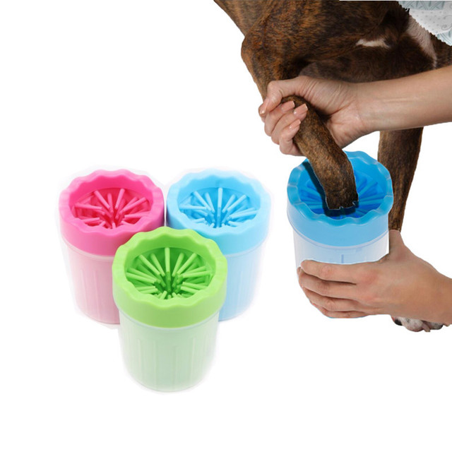 Pet Foot Washer Cup Portable Dog Foot Wash Tools Soft Gentle